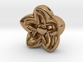 Kanzashi Pendant in Polished Brass