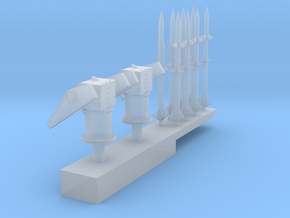1:600 Scale Mk 10 Terrier Missile Launchers in Smooth Fine Detail Plastic