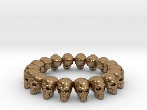 Skulls ring in Natural Brass: 7.5 / 55.5