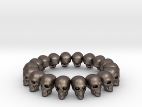 Skulls ring in Polished Bronzed Silver Steel: 9 / 59