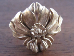 Lotus Ring in Natural Bronze: 7 / 54
