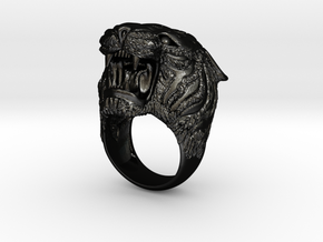 Tiger ring size 11 in Matte Black Steel