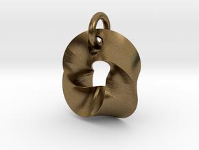 LittleTwisted Pendant  in Interlocking Raw Bronze