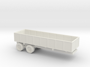 1/144 Scale M-35 Cargo Trailer in White Natural Versatile Plastic