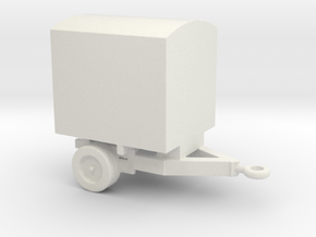 1/144 Scale M-479 Battery Service Trailer in White Natural Versatile Plastic