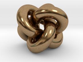 Borromean Rings Pendant in Natural Brass (Interlocking Parts): Medium