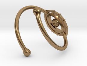 Evil Eye Ring by Bixie Studios in Natural Brass