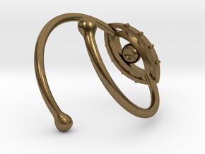 Evil Eye Ring by Bixie Studios in Natural Bronze