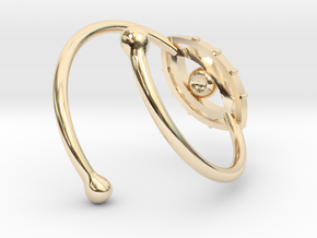 Evil Eye Ring by Bixie Studios in 14k Gold Plated Brass
