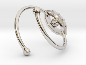 Evil Eye Ring by Bixie Studios in Rhodium Plated Brass