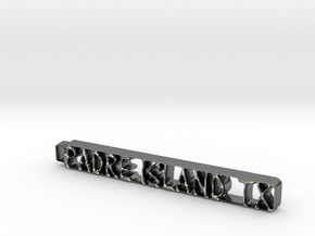 Padre Island Keychain in Polished Silver