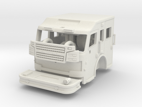 "1/64 Rosenbauer 11"" raised roof cab in White Natural Versatile Plastic"