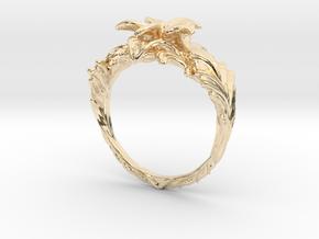 Yazmin Ring in 14k Gold Plated Brass: 4 / 46.5