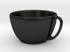 Larger Handled Mug in Matte Black Porcelain