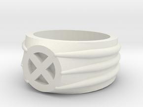 Xmen Ring in White Natural Versatile Plastic