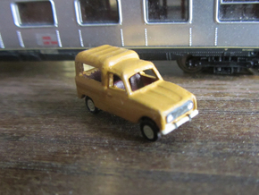 Renault 4 van in 1:160 scale (Lot of 6 cars) in Smooth Fine Detail Plastic
