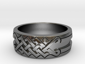 UNITY Ornamental Ring in Polished Silver: 7 / 54