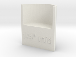 "Lasersaur focus: 1/4"" media, middle point in White Strong & Flexible"
