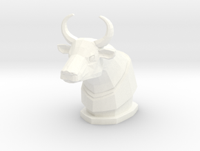 K Bull Figure in White Processed Versatile Plastic