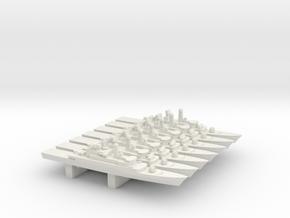 Moudge-Class frigate set, 7pc, 1/2400 in White Natural Versatile Plastic