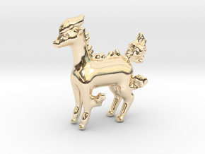 Ponyta in 14k Gold Plated Brass