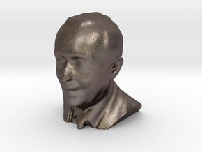 Marcelo Rebelo de Sousa 3D Model in Polished Bronzed Silver Steel