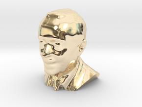 Marcelo Rebelo de Sousa 3D Model in 14K Yellow Gold