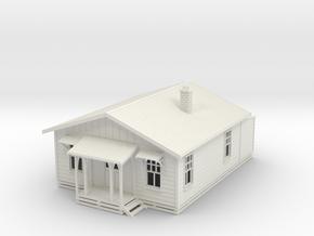 Railway Cottage NZ120 in White Natural Versatile Plastic