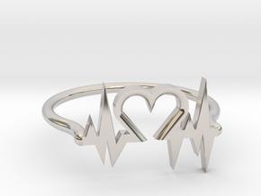 Heart Ring in Platinum
