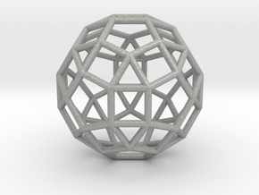 0275 Small Rhombicosidodecahedron E (a=1cm) #001 in Aluminum