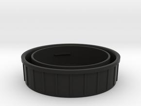 Topcon/Exakta Rear Lens Cap in Black Natural Versatile Plastic