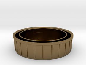 Topcon/Exakta Rear Lens Cap in Polished Bronze