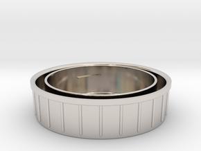 Topcon/Exakta Rear Lens Cap in Platinum