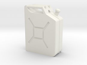Jerry Can 1/10 Scale in White Strong & Flexible