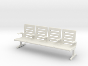 Modern Seat - OO Scale in White Strong & Flexible