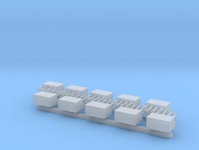 4x Presslufthörner mit Kompressorkasten - 1/87 10x in Smoothest Fine Detail Plastic