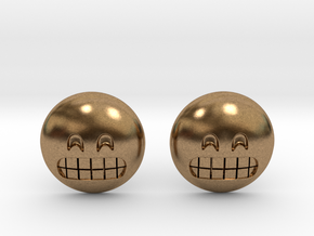 Grinning Emoji with Smiling Eyes in Natural Brass
