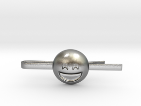 Smiling Eyes Tie Clip in Natural Silver