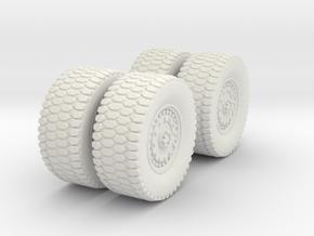 1/72 MATV Wheels in White Natural Versatile Plastic