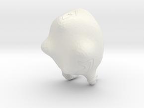LILITH Pot in White Natural Versatile Plastic