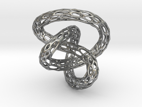 Infinite Knot - Voronoi Pendant in Natural Silver