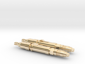 The Master's (Simms) Laser Screwdriver Earrings in 14k Gold Plated Brass
