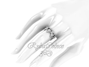 The Heart ring / size HK 10 / 5 US (19.4 mm) in Polished Silver