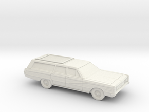 1/87 1966 Mercury Colony Park Station Wagon in White Natural Versatile Plastic
