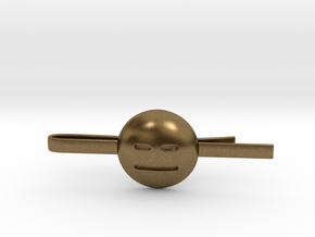 Expressionless Tie Clip in Natural Bronze