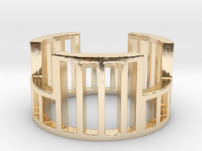 Cage Ring Size 10.5 in 14k Gold Plated Brass: Small