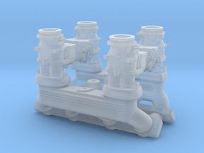 1/18 Ardun 2X4 Intake in Smooth Fine Detail Plastic