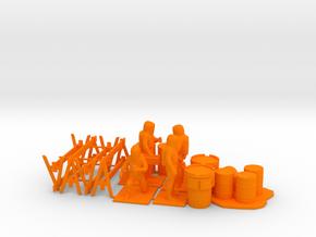 Hazmat Team 4, Multiple Scales in Orange Processed Versatile Plastic: 1:64