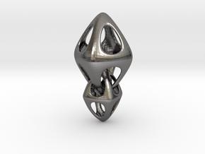 Tetrahedron Double Interlocked in Polished Nickel Steel