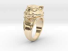 Cat Pet Ring - 18.89mm - US Size 9 in 14k Gold Plated Brass